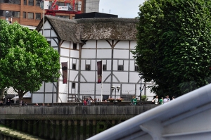 The Globe Theater from the River Bus