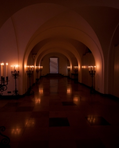The atmospheric undercroft of the Banqueting Hall