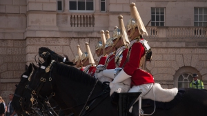 Horse Guardsmen lined up and ready