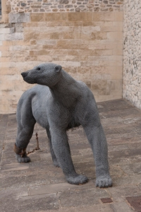 Kendra Haste's depiction of Henry III's polar bear at the Tower of London