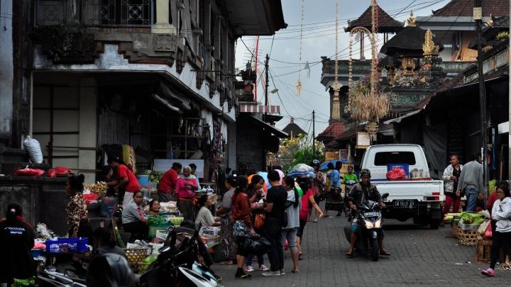 Busy Bali street scene