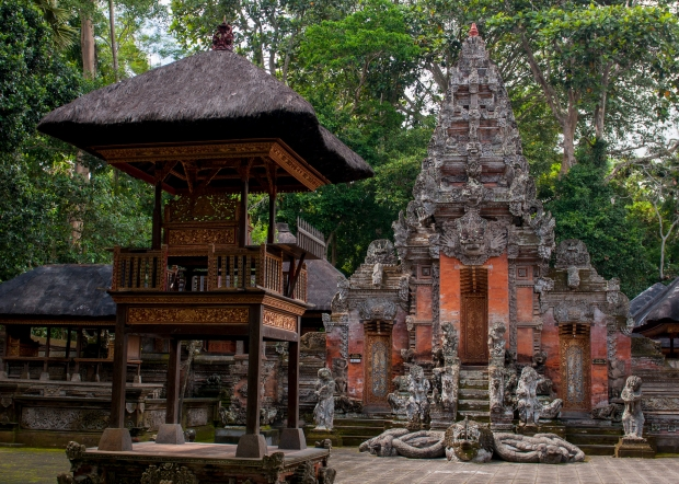 Temple in the Monkey Forest Ubud, Bali